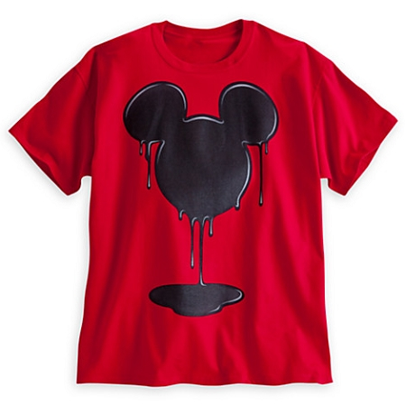 Disney Shirt for Adults - Dripping Mickey Mouse Icon - Red