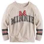 Disney Shirt for Women - Minnie Mouse Long Sleeve Raglan Tee - Tan
