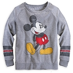 Disney Shirt for Women - Mickey Mouse Long Sleeve Raglan Tee - Gray
