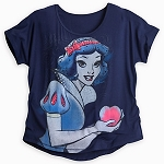 Disney Shirt for Women - Snow White Fashion Tee - Blue