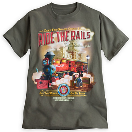 Disney Shirt for Adults - Mickey Mouse Train Tee - Ride the Rails