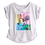 Disney Shirt for Women - Sparkle Minnie Mouse Fashion Tee - White