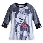 Disney Shirt for Women - Minnie Mouse Rosette Raglan Tee