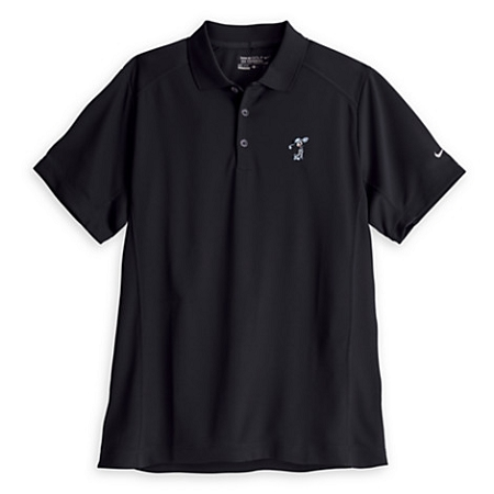 Disney Polo Shirt for MEN - Mickey Mouse Nike Golf Tee - Black