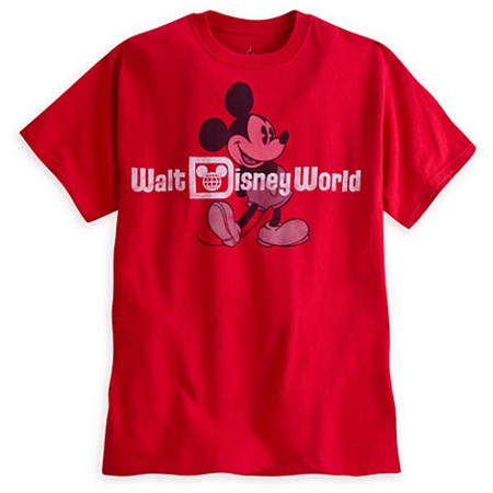 Disney Adult Shirt - Mickey Mouse Classic Tee - Red