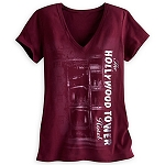 Disney Shirt for Women - Hollywood Tower Hotel Tee - Maroon