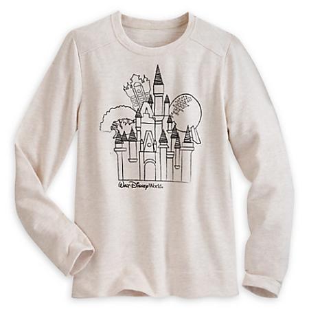 79fb2ce6a95 Disney Sweatshirt for Women - Walt Disney World Icons - Tan