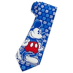 Disney Tie for Men - Mickey Mouse Standing - Blue