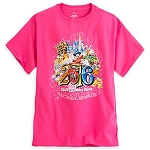 Disney Shirt for Women - 2016 Sorcerer Mickey and Friends - Pink