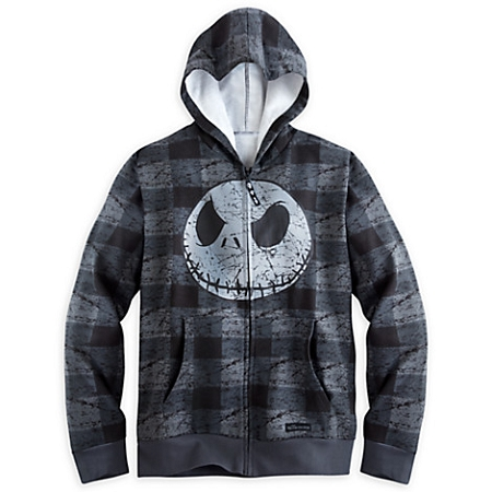 Disney Hoodie for MEN - Plaid Jack Skellington Fleece