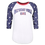 Disney Shirt for Adults - Walt Disney World Stars Raglan T-Shirt