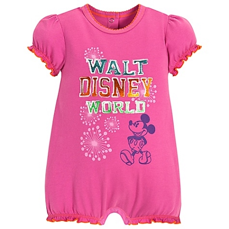 Disney Romper for BABY Girls - Chromatic Mickey Mouse -- Purple