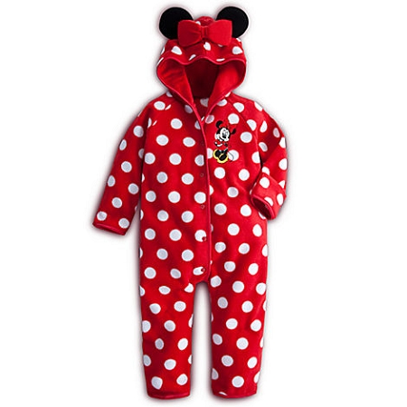 Disney Bodysuit for Baby - Minnie Mouse Fleece Bunting - Red