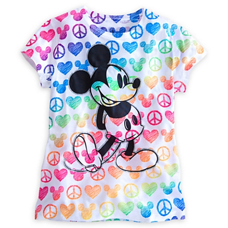 Disney Shirt for Girls - Mickey Mouse Tee - Peace Love Mickey