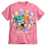 Disney Shirt for Girls - 2014 Sorcerer Mickey and Friends - Pink