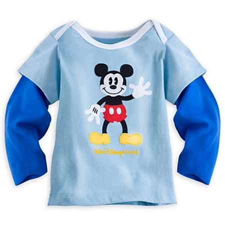 Disney Infant Shirt - Mickey Mouse Long-Sleeve Tee - Walt Disney World