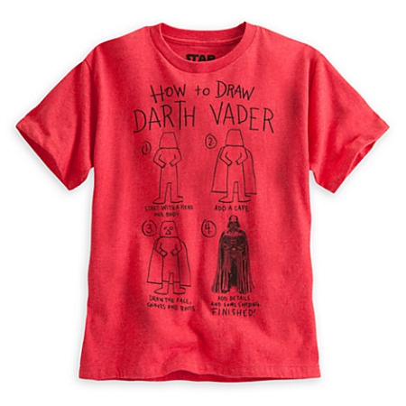 Disney Shirt for Boys - How to Draw Darth Vader Tee - Star Wars