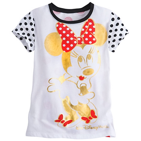Disney Shirt for Girls - Minnie Mouse Gold Foil Tee - Disney World