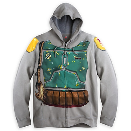 Disney Hoodie for Adults - Boba Fett Costume Zip Up - Star Wars