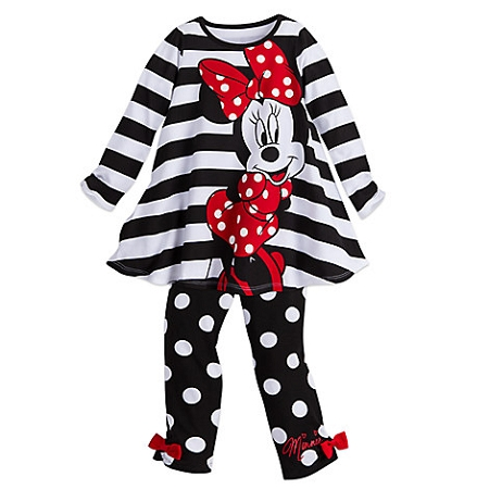 Disney Dress Set For Toddler Girls Minnie Mouse Black And White