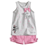 Disney Toddlers Top and Shorts Set - Minnie Mouse with Bows