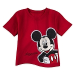 Disney Toddler Shirt - Mickey Mouse Outline Tee - Red