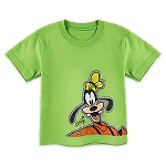 Disney Toddler Shirt - Goofy Outline Tee - Green