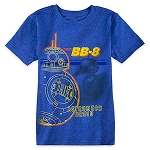 Disney Shirt for Boys - BB-8 - Blue Heathered Tee