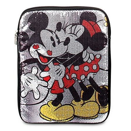 Disney Tablet Case Sequined Minnie Mouse And Mickey Mouse