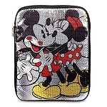 Disney Tablet Case - Sequined Minnie Mouse and Mickey Mouse