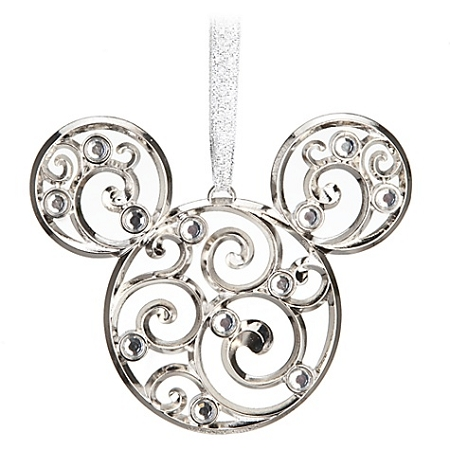 Disney Christmas Ornament - Bohemian Filigree Mickey Mouse - Silver