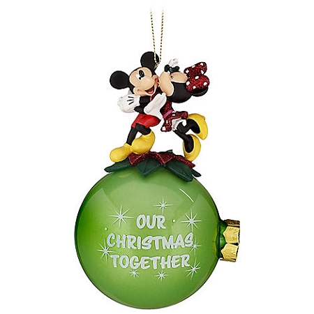 Disney Christmas Ornament - Minnie and Mickey - Our Christmas Together