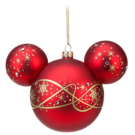 Disney Christmas Ornament - Mickey Mouse Ears - Pixie Dust Swirls