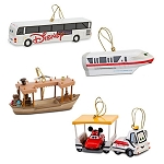 Disney Christmas Ornament Set - Disney Parks Transportation Vehicles
