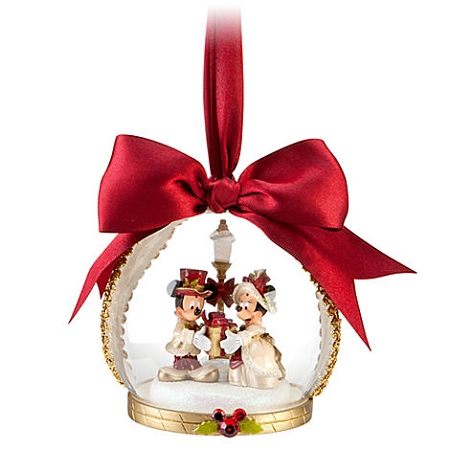 disney christmas ornament victorian minnie and mickey mouse globe - Mickey Mouse Christmas Decorations