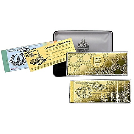 Disney Collectors Golden Ticket Replica - Disney World Opening Day