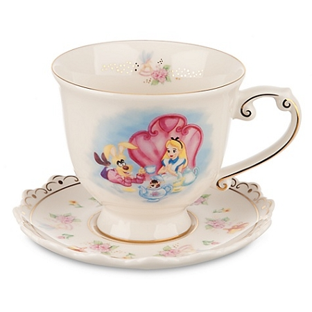 Disney Tea Cup and Saucer - Alice in Wonderland - Mad Tea Party