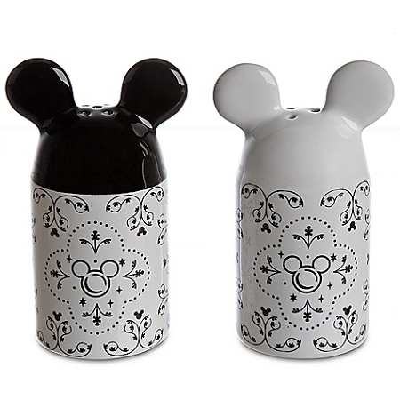 Disney Salt and Pepper Shakers - Gourmet Mickey Mouse - Black