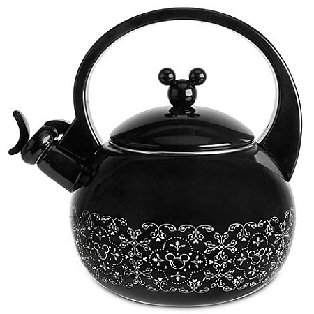 Add To My Lists Disney Tea Kettle Gourmet Mickey Mouse Black And White