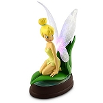 Disney Medium Figure Statue - Tinker Bell on a Leaf - Light up