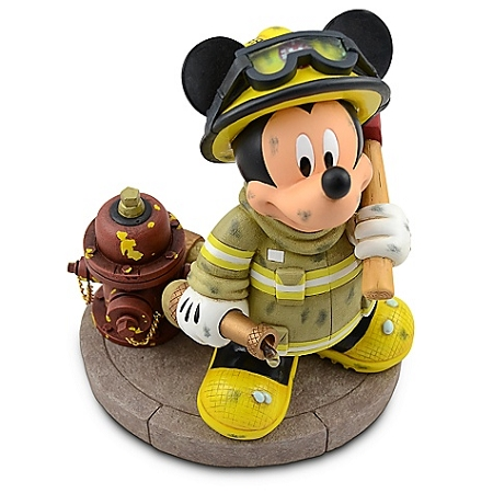 Disney Medium Figure Statue - Fireman - Mickey Mouse