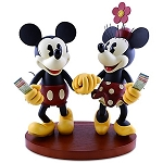 Disney Medium Figure Statue - Pie-Eyed Minnie Mouse and Mickey Mouse