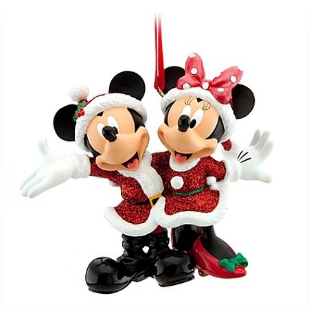 Disney Christmas Ornament - Santa Mickey and Minnie Mouse