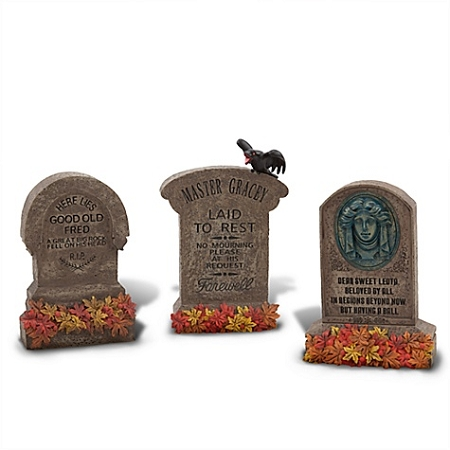 Disney Halloween Decor - The Haunted Mansion - Tombstone Set 3-Pc.