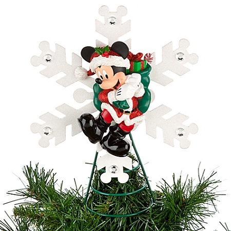 disney christmas tree topper santa mickey mouse tap to expand