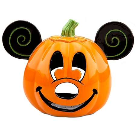 Disney Votive Candle Holder - Halloween Pumpkin Mickey Mouse