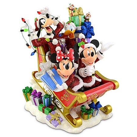 Disney Christmas Figurine - Sleigh Mickey Mouse and Friends