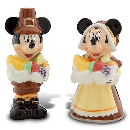 Disney Salt and Pepper Shakers - Thanksgiving Minnie and Mickey Mouse
