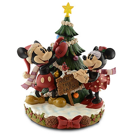 disney medium figure christmas minnie and mickey mouse tree farm - Mickey And Minnie Christmas Decorations
