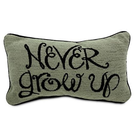 Disney Throw Pillow Cushion Peter Pan Never Grow Up